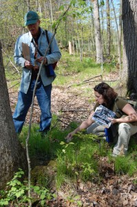 A volunteer team assesses a bioreserve site.