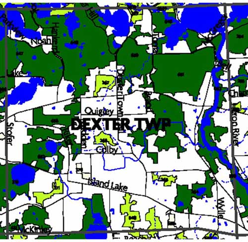 Remaining natural areas in Dexter Township