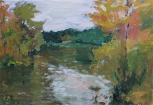 """Huron River in the Rain,"" by Cathy Van Voorhis"