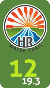 Mock Up of a Water Trail Mile Marker