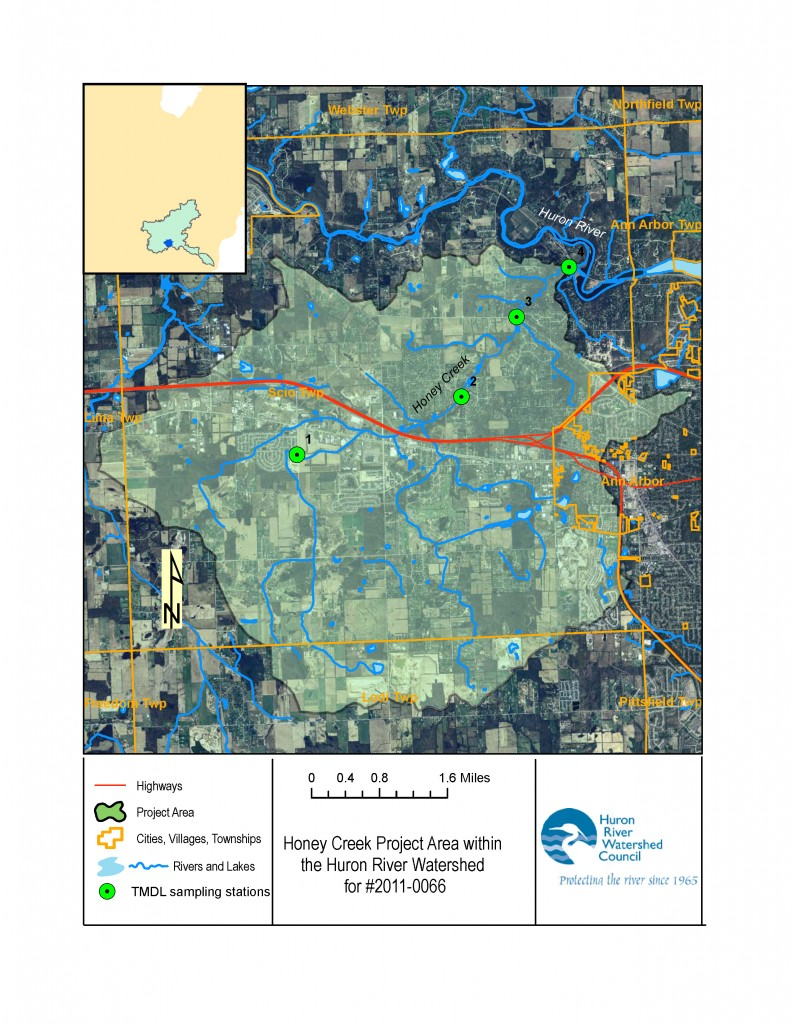 Map of Honey Creek project area