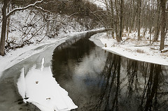 The Huron in winter.  Photo: John Lloyd