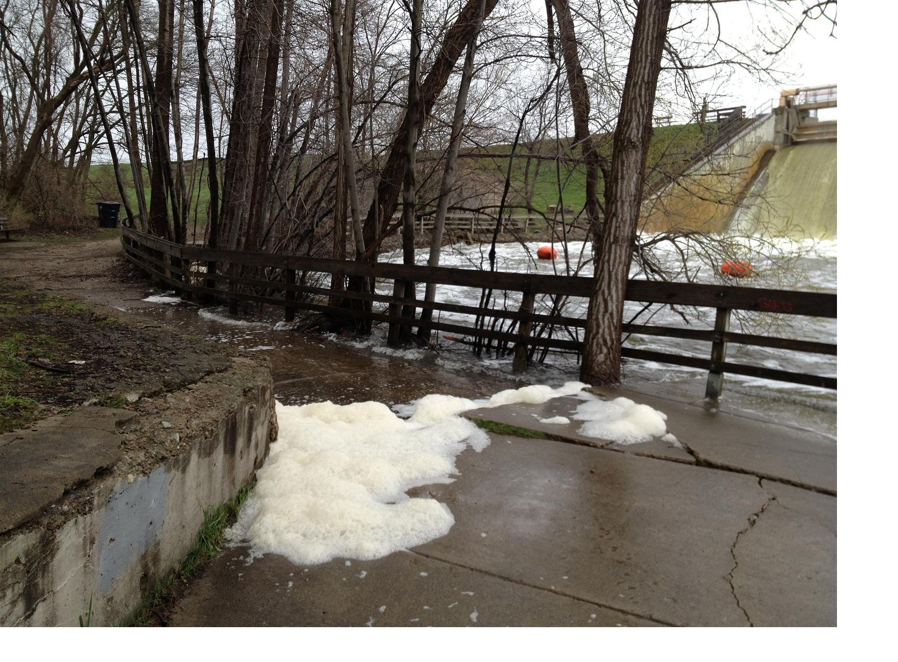 Barton Dam Pathway Foam 6