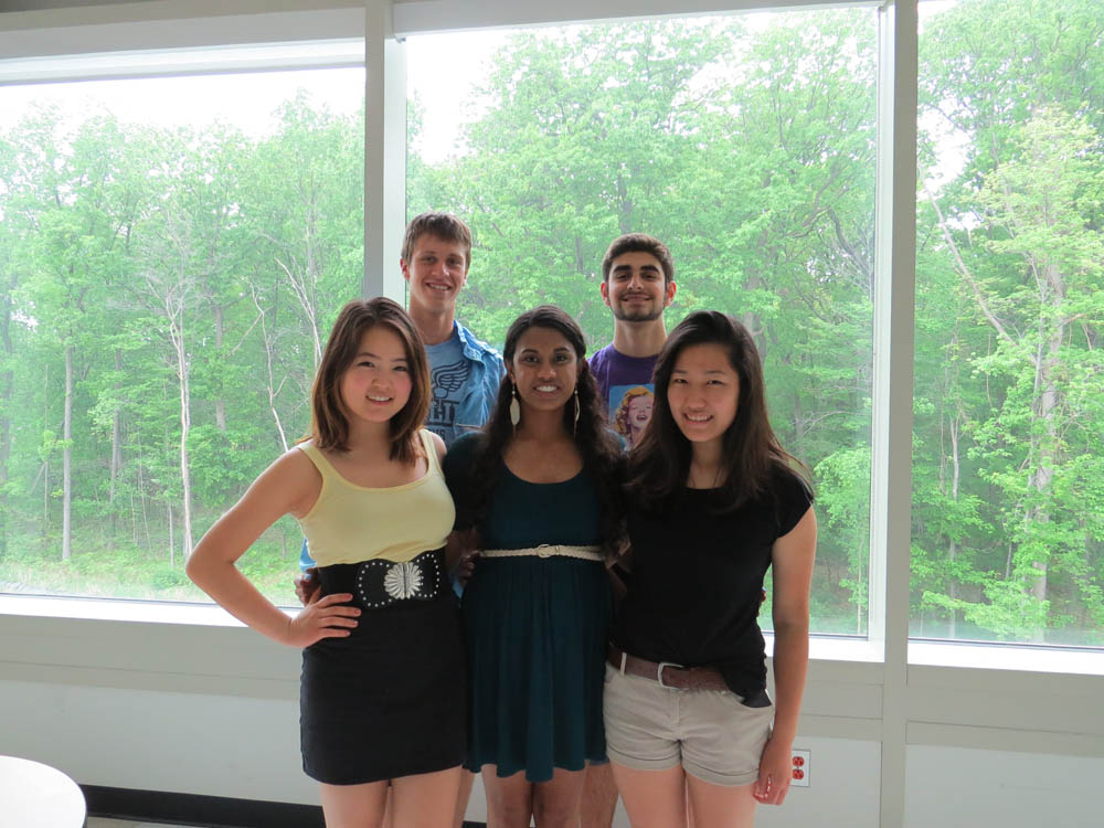 Students Diana Cleen, Nivetha Samy, Hannah Lee, Eric Jensen and Andrew Almani, Kaz Ishikawa not shown