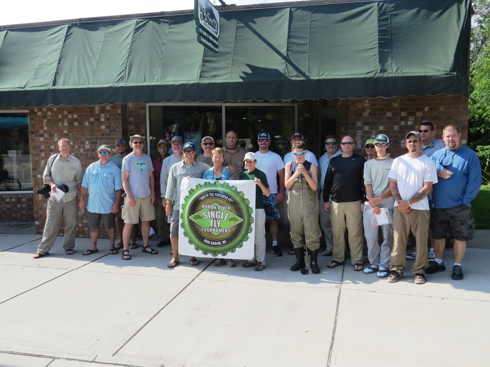 Participants in the 2013 Huron River Single Fly Tournament