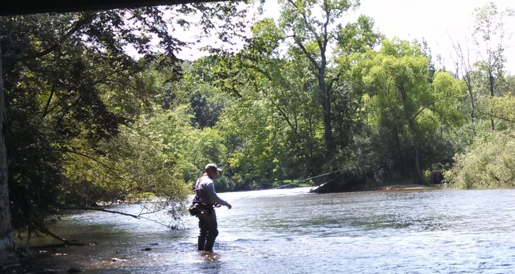 Participant Sean Hickey in the 2013 Huron River Single Fly Tournament