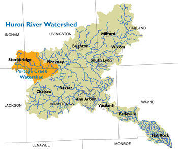 Portage-Creek-Watershed-Map
