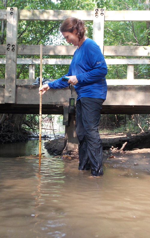 Mosquitos can be bad during a creekwalk, depending on the location and weather. Long pants and long sleeves may be a good idea! Right, Erin?