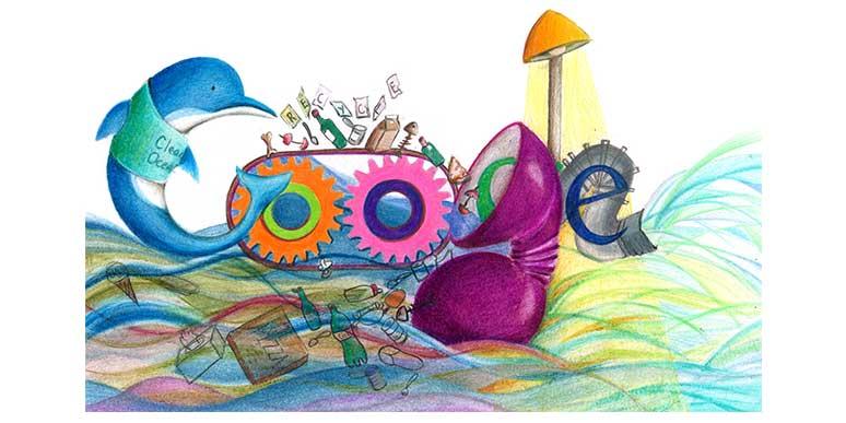 Ocean Cleaner Google Doodle