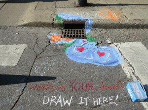 Stormdrain Art at 2013 Green Fair
