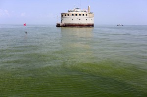 Toledo's drinking water intake in Lake Erie.  Credit: Haraz N. Ghanbari, Associated-Press