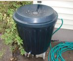 Install a rain barrel to capture rainwater flowing off your roof. Great for watering potted plants.