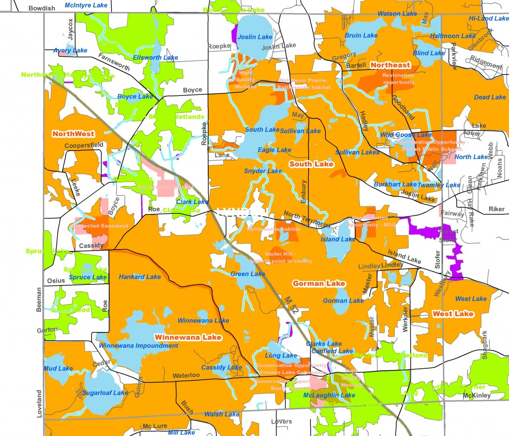 Lyndon Township's Green Infrastructure Map