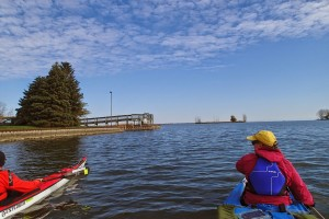Kayaking at the Huron River delta, River Mile 0. credit: L & S Small Craft Coastal Explorations