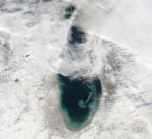 The Waukesha Plan would divert water from Lake Michigan to a location outside of the Great Lakes basin. Image: NASA via Flickr Creative Commons.