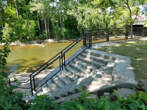 Stairs, path, and railing have been restored at the Frog Island Access