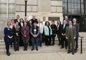 HRWC's Elizabeth Riggs and other D.C. Fly In participants visit US EPA on Pennsylvania Avenue.