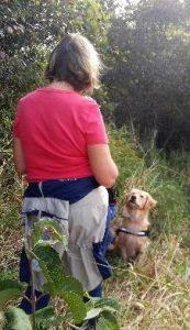 Kenna alerting at creek.