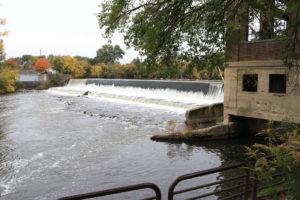 Pen Dam as seen from the walkway in adjacent Pen Park