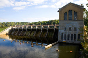 Barton Dam on the Huron River in Ann Arbor