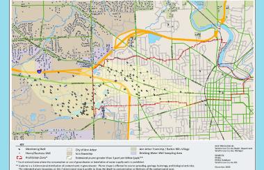 Dioxane Plume Map Washtenaw