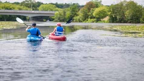 Paddling the Huron River