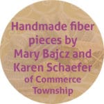 handmade fiber pieces