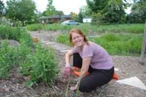planting a rain garden